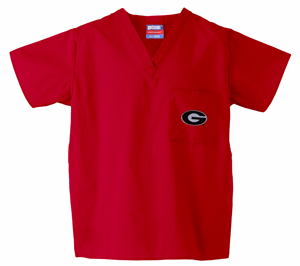 University of Georgia Red 1-Pocket Top